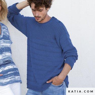 patron-tejer-punto-ganchillo-hombre-jersey-primavera-verano-katia-6122-55-p