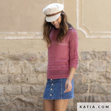 patron-tejer-punto-ganchillo-mujer-jersey-primavera-verano-katia-6122-19-p