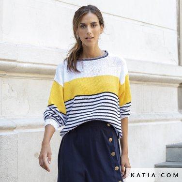 patron-tejer-punto-ganchillo-mujer-jersey-primavera-verano-katia-6122-32-p