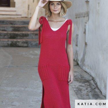patron-tejer-punto-ganchillo-mujer-vestido-primavera-verano-katia-6122-31-p