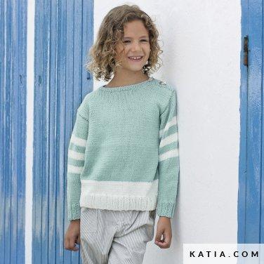 patron-tejer-punto-ganchillo-ninos-jersey-primavera-verano-katia-6121-24-p